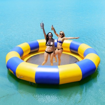 15 Ft. Inflatable Water Bounce Jump Floated Water Trampoline