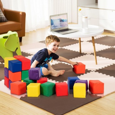 12 Piece 5.5 In. Soft Foam Building Blocks