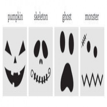 Spooky Face Halloween Stickers - Set of 20