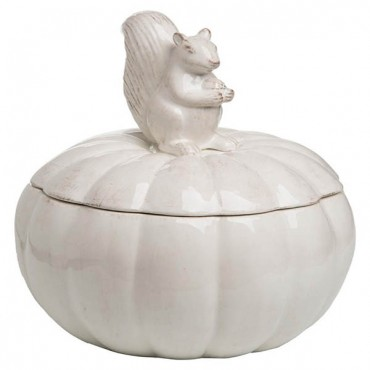 Squirrel and Pumpkin Cookie Jar