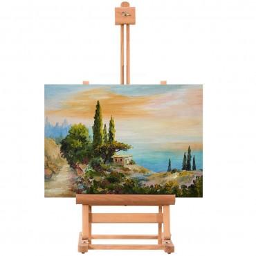 Adjustable Portable Wood Tabletop Easel H - Frame For Artist Painting Display