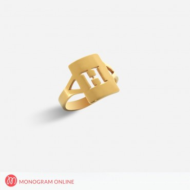 Sterling Silver Personalized w/ Initial Ring