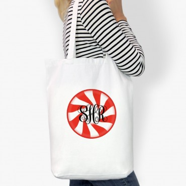 Swirl Design Personalized Cotton Tote Bag