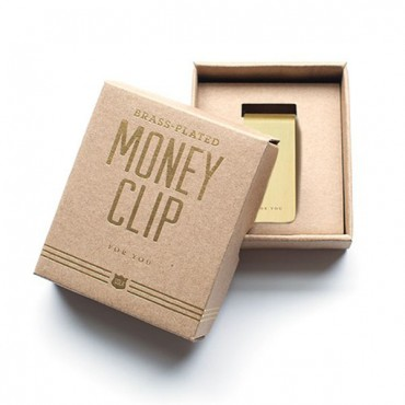 For You Brass Money Clip