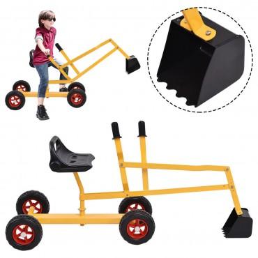 Heavy Duty Kid Ride - On 4 - Wheel Excavator Sand Digger