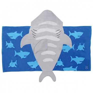 Hooded Towel For Kids - Shark