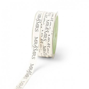 Mr. And Mrs. Ivory Canvas Ribbon