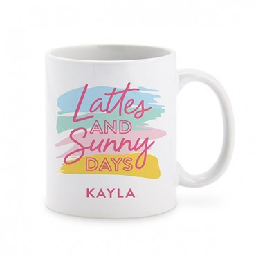 Personalized Coffee Mug - Lattes & Sunny Days