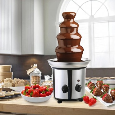 4 Tiers Stainless Steel Chocolate Fondue Fountain