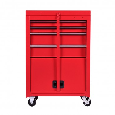 Portable Tool Chest Rolling Tool Storage Box Cabinet Organizer 4 Sliding Drawers