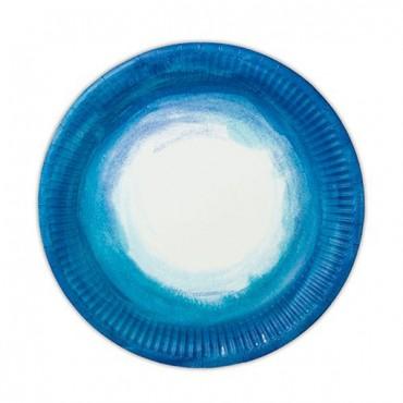 Aqueous Round Paper Plates - 2 Pieces