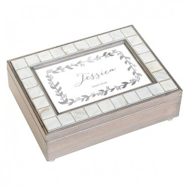 Luxury Pearl Music Box - Botanical Wreath Foiled Print