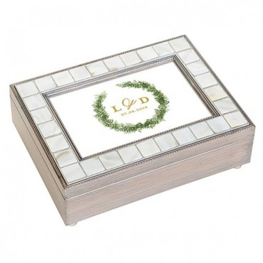 Luxury Pearl Music Box - Love Wreath Print
