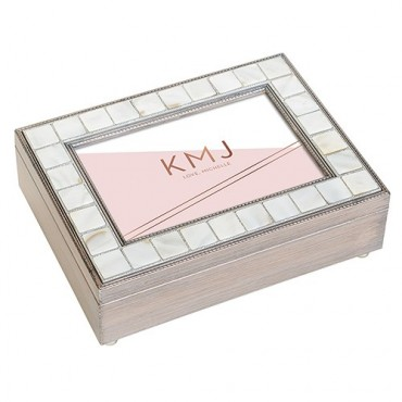 Luxury Pearl Music Box - Retro Luxe Foiled Print