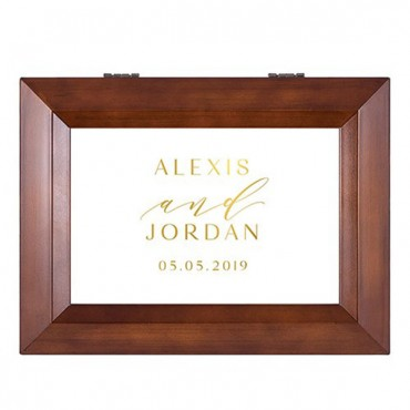 Wooden Music Box - Modern Couple Foiled Print