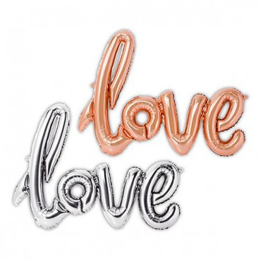 Foil Balloon Decoration - Cursive Love - 2 Pieces