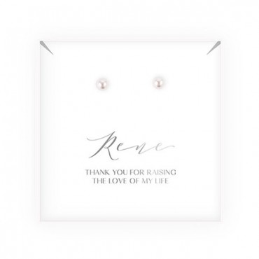 Swarovski Crystal Stud Earrings - Mother - In - Law Thank You