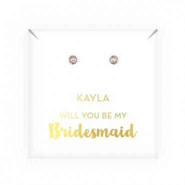 Swarovski Crystal Stud Earrings - Be My Bridesmaid?