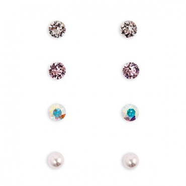 Swarovski Crystal Stud Earrings - Thank You