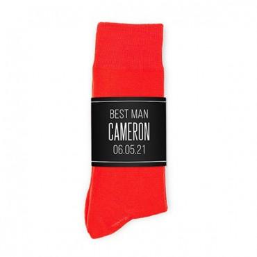 Personalized Men's Socks Wedding Gift - Name