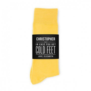 Personalized Men's Socks Wedding Gift - Cold Feet