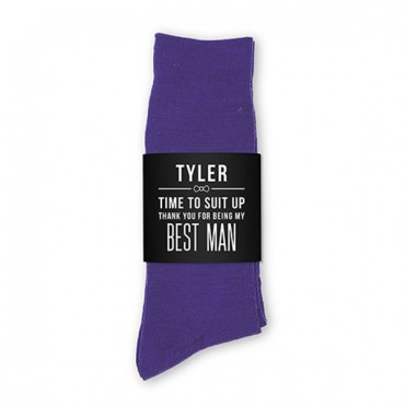 Personalized Men's Socks Wedding Gift - Suit Up