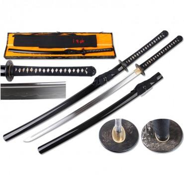 Defender 41.5 in. Hand Forged 1095 Shinogi Zukuri Blade Katana Samurai Sword MYOUOU Tsuba