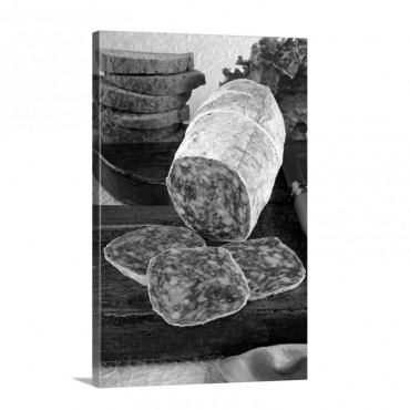Italy Tuscany Food Tuscan Salame Traditional Wall Art - Canvas - Gallery Wrap