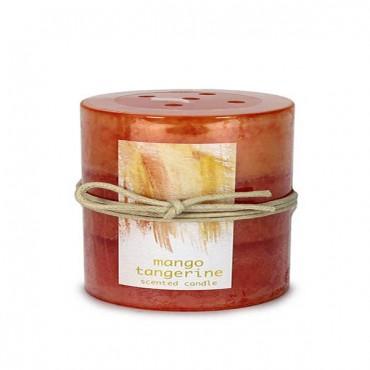 Tangerine Mango Pillar Candle 3X4