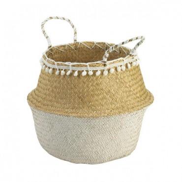 Tasseled Seagrass Basket