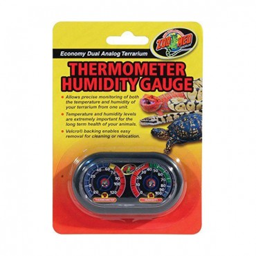 Zoo Med Terrarium Thermometer and Humidity Gauge - Thermometer and Humidity Gauge