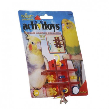 JW Insight Tic Tac Toe Bird Toy - Tic Tac Toe Bird Toy - 3 Pieces