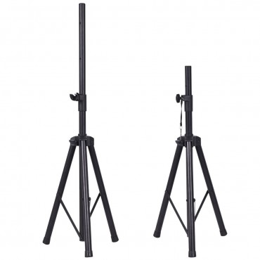 Pair Of Tripod Speaker Stands With Carry Bag And Cables