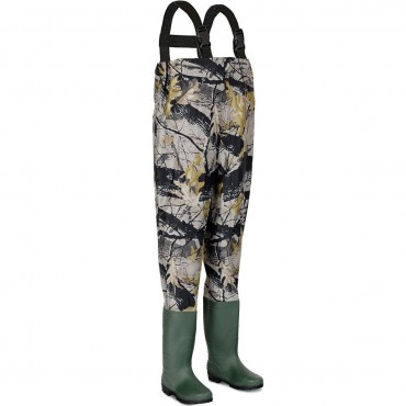 Waterproof Chest Waders Nylon PVC Cleated Bootfoot
