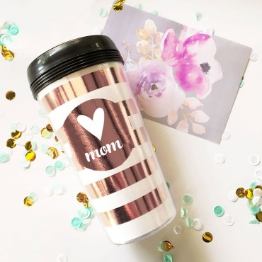 Metallic Foil Travel Coffee Mug
