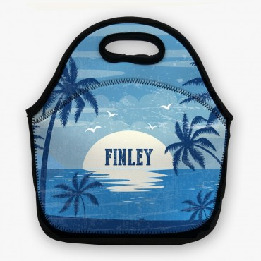 Tropical Sunset Personalized Lunch Bag
