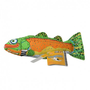 Fat Cat Classic Tankers Dog Toy - Assorted - Trout - 14 in. L x 5 in. W x 3 in. H - 2 Pieces