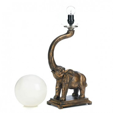 Trumpeting Elephant Globe Lamp