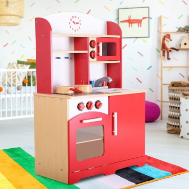 Kids Cooking Pretend Play Toy Kitchen Set