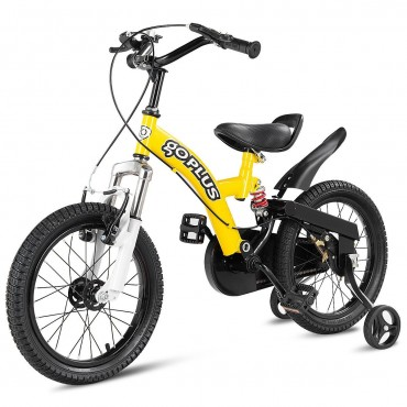 16 Kids Bicycle Sports Bike With Training Wheel Brakes