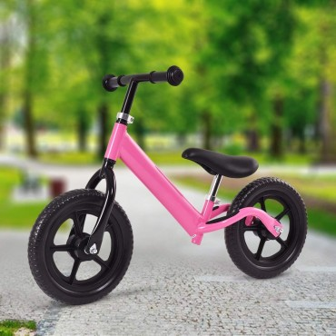 Pink 12 In. Balance Kids No - Pedal Learning Bicycle