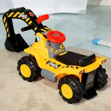 Kids Toddler Ride On Excavator Digger Truck Scooter