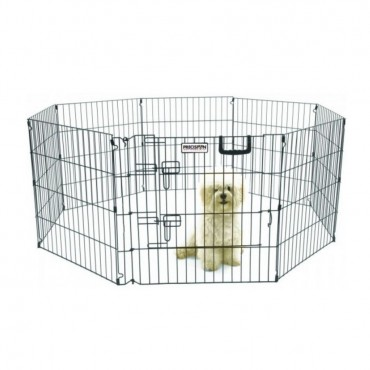 Precision Pet Ultimate Play Yard Exercise Pen - Black - UXP Model 24 Tall - 4 x 4 Square