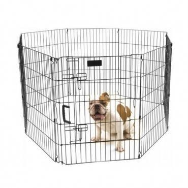 Precision Pet Ultimate Play Yard Exercise Pen - Black - UXP Model 30 Tall - 4 x 4 Square