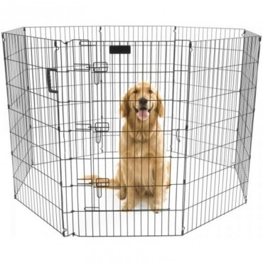 Precision Pet Ultimate Play Yard Exercise Pen - Black - UXP Model 36 Tall - 4 x 4 Square