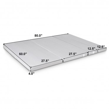 4 In. Folding Sofa Bed Foam Mattress With Handles