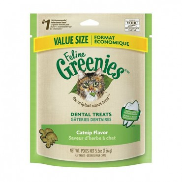 Greenies Feline Dental Treats - Catnip Flavor - Value Size - 5.5 oz - 2 Pieces