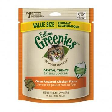 Greenies Feline Dental Treats - Oven Roasted Chicken Flavor - Value Size - 5.5 oz - 2 Pieces