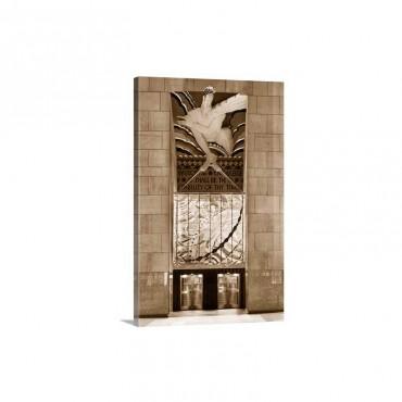 New York City, Manhattan, Midtown, Rockefeller Center Wall Art - Canvas - Gallery Wrap