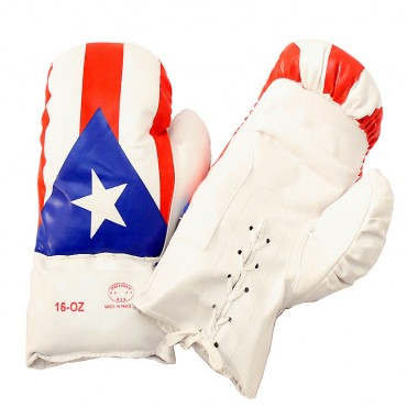 16 oz Puerto Rico Flag Boxing Gloves